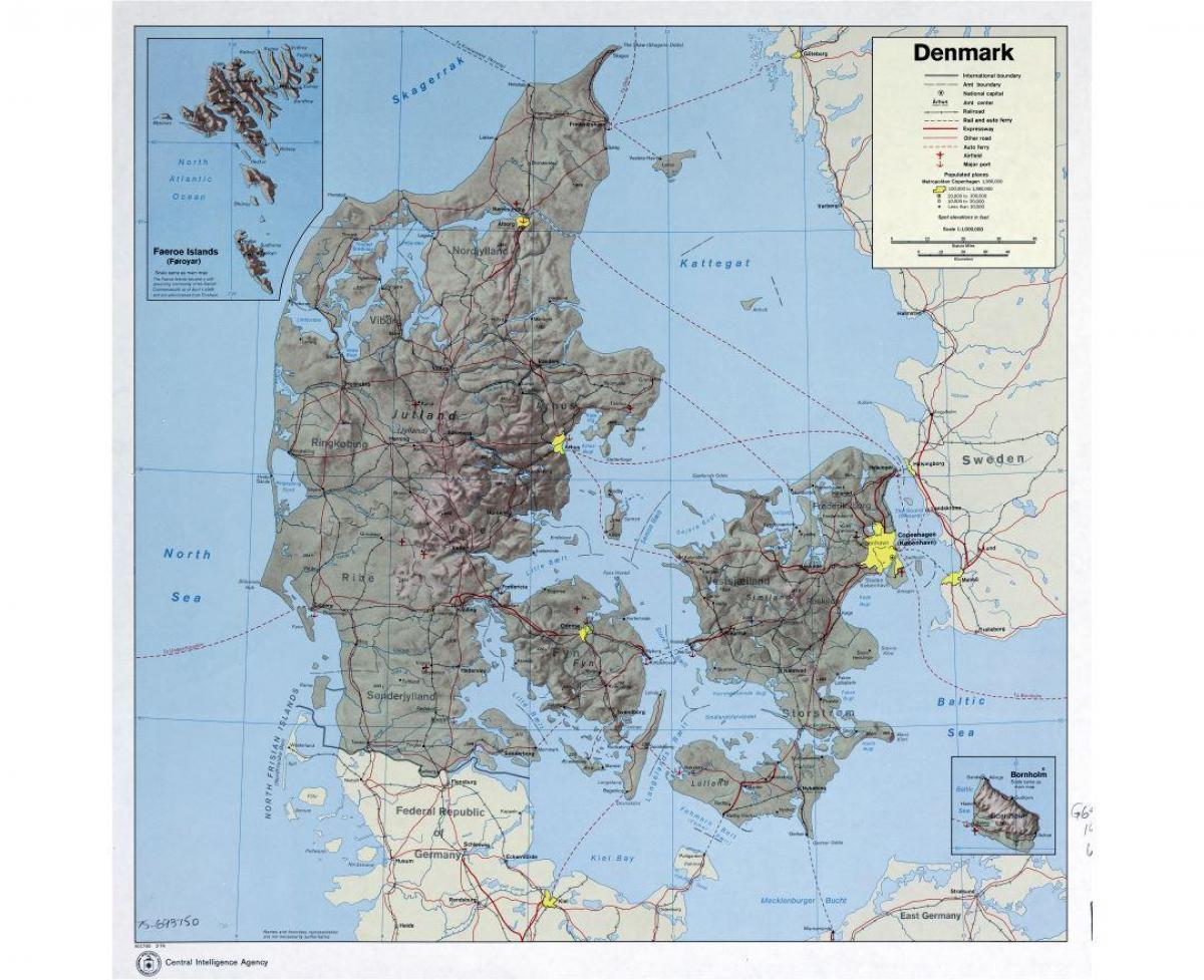 Danemarca Aeroporturi Harta Aeroporturi Internaționale In