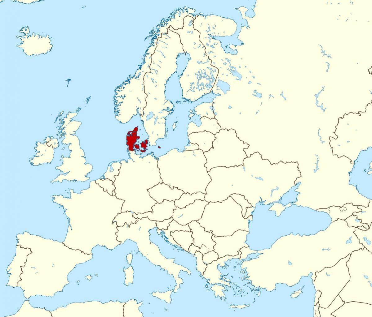 Danemarca Localizare Pe Harta Lumii Harta Danemarca Locație De