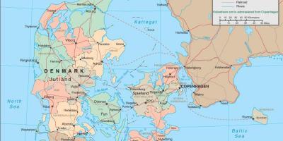 Danemarca Hartă Hărți Danemarca Europa De Nord Europa