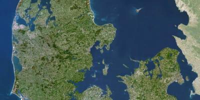 Danemarca Harta Prin Satelit Harta Danemarca Prin Satelit